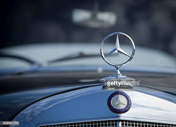 mercedes badge - mercedes benz stock photos and pictures