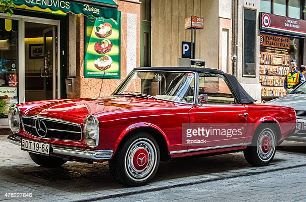 mercedes benz 280sl convertible - german culture stock pictures, royalty-free photos & images