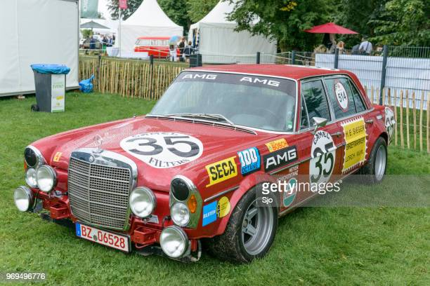 amg mercedes benz 300sel classic racecar - liege province stock pictures, royalty-free photos & images