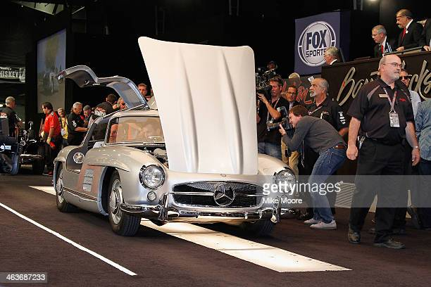 Mercedes Benz 300SL Gullwing Coupe enters the auction area and sells for One Million Nine Hundred Thousand Dollars during the 43rd Annual...