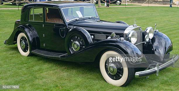 mercedes benz 540k w29 classic car - concours stock photos and pictures