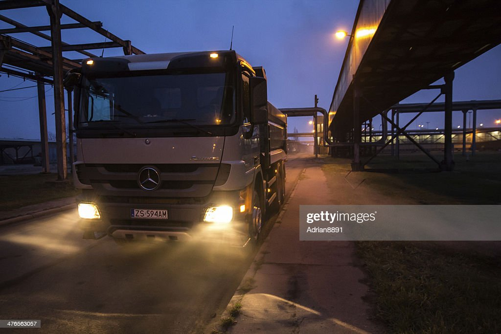 Mercedes Benz Actros Mpiii Dumper Truck At Chemical Industry