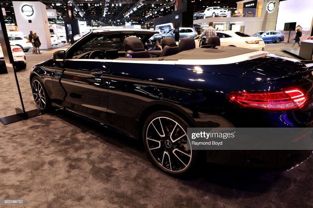 Mercedes Benz AMG C 43 Cabriolet is on display at the 110th Annual Chicago Auto Show at McCormick Place in Chicago, Illinois on February 9, 2018.