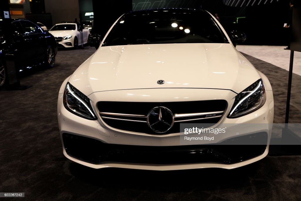 Mercedes Benz AMG C 63 S Coupe is on display at the 110th Annual Chicago Auto Show at McCormick Place in Chicago, Illinois on February 9, 2018.