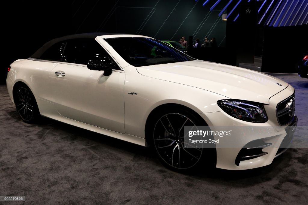 Mercedes Benz AMG E53 Cabriolet is on display at the 110th Annual Chicago Auto Show at McCormick Place in Chicago, Illinois on February 9, 2018.