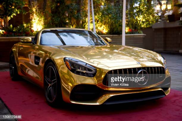 Mercedes Benz car is seen during the Mercedes-Benz Academy Awards Viewing Party at The Four Seasons Hotel Los Angeles at Beverly Hills on February...