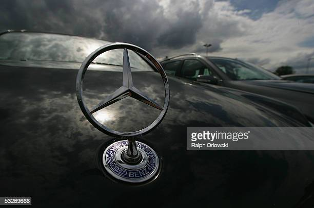 Mercedes Benz cars are parked waiting for shipment July 26 2005 in Bischofsheim near Mainz Germany Sparked by the election manifesto of the...