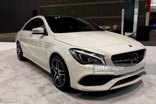 Mercedes Benz CLA 250 Coupe is on display at the 110th Annual Chicago Auto Show at McCormick Place in Chicago, Illinois on February 9, 2018.