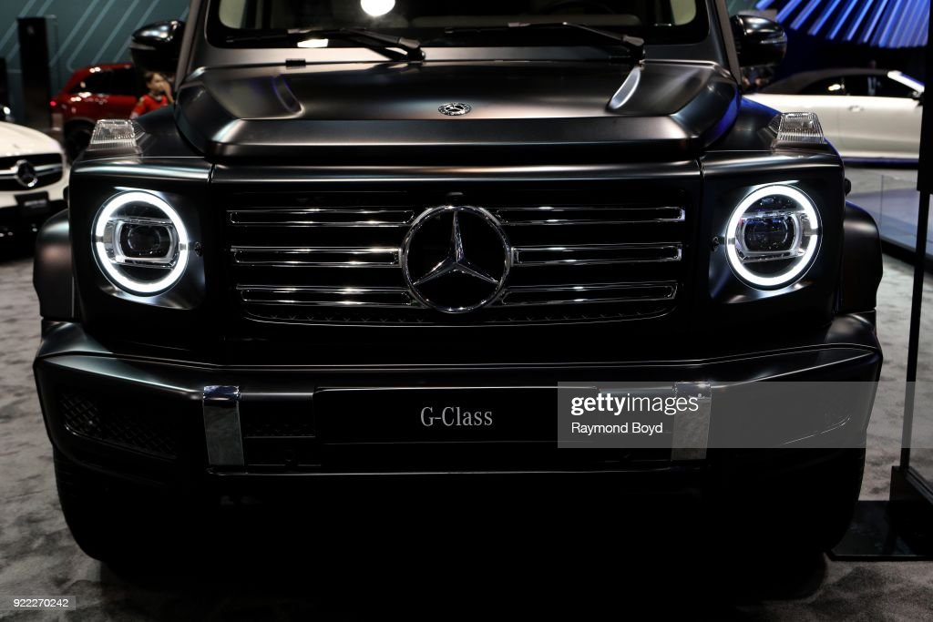 Mercedes Benz G Class is on display at the 110th Annual Chicago Auto Show at McCormick Place in Chicago, Illinois on February 9, 2018.