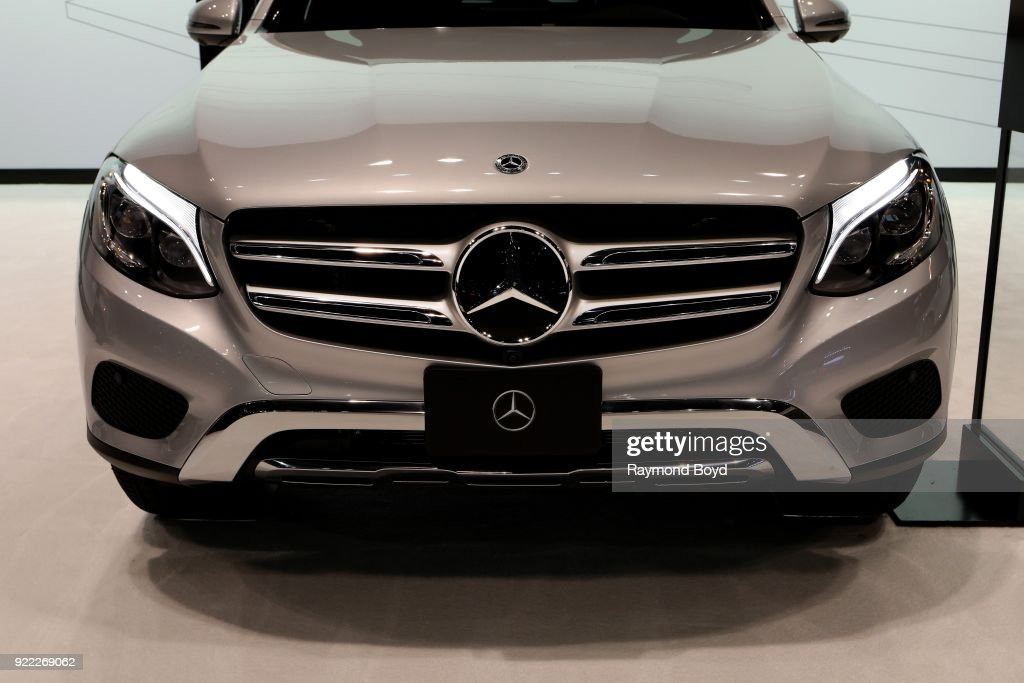 Mercedes Benz GLC 350e 4Matic SUV is on display at the 110th Annual Chicago Auto Show at McCormick Place in Chicago, Illinois on February 9, 2018.