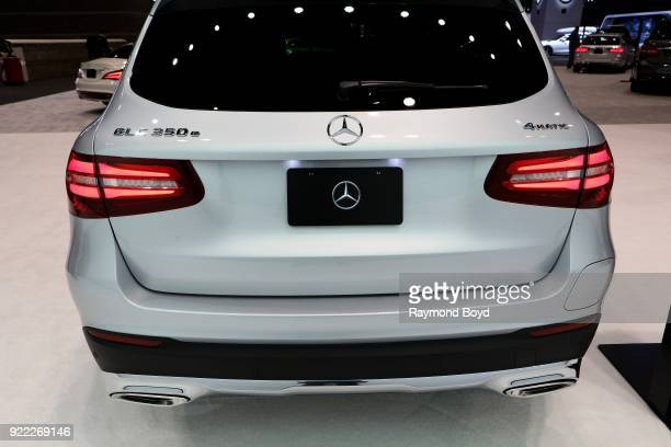Mercedes Benz GLC 350e 4Matic SUV is on display at the 110th Annual Chicago Auto Show at McCormick Place in Chicago Illinois on February 9 2018