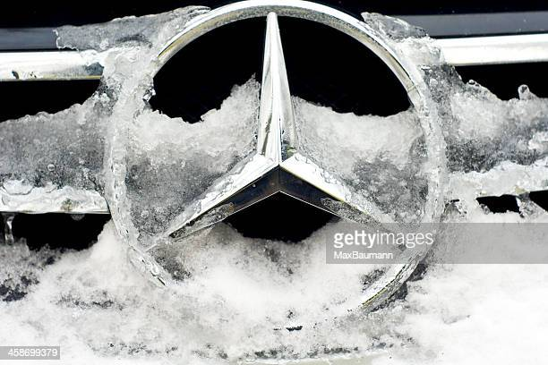 mercedes benz in winter - mercedes benz stock photos and pictures
