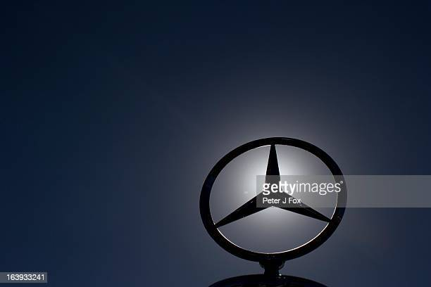 Mercedes Benz logo is displayed during the Australian Formula One Grand Prix at the Albert Park Circuit on March 17 2013 in Melbourne Australia