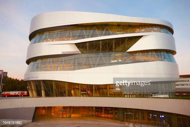 mercedes benz museum in stuttgart - stuttgart stock pictures, royalty-free photos & images