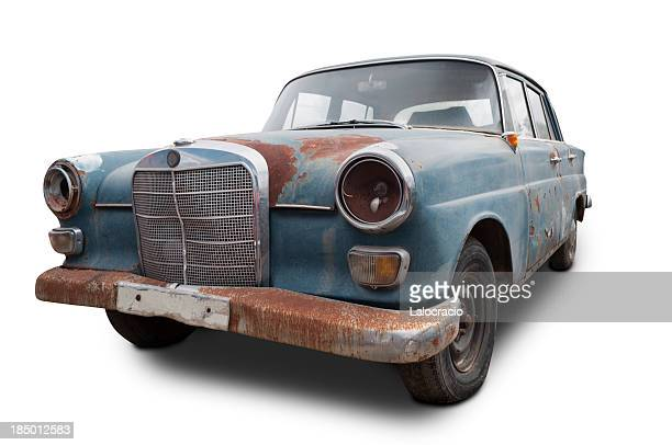 mercedes benz oxidized - rusty stock pictures, royalty-free photos & images