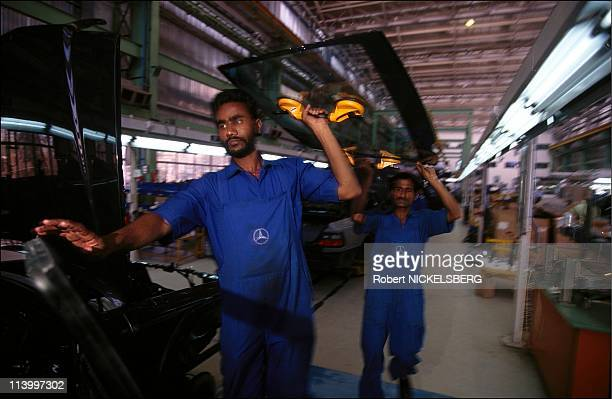 Mercedes Benz plant in Pune In India In 1997-Assembly factory.