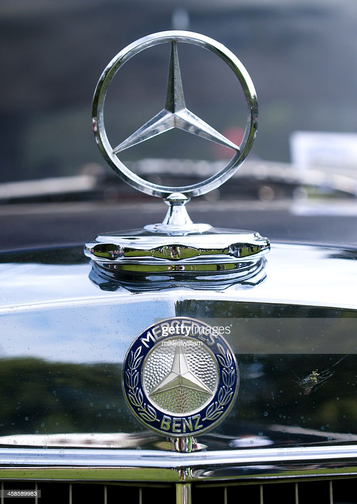 Mercedes Benz Silver Star Logo Stock Photo Getty Images