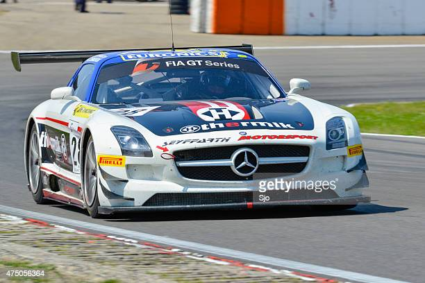 mercedes benz sls amg gt3 - fia gt championship stock pictures, royalty-free photos & images