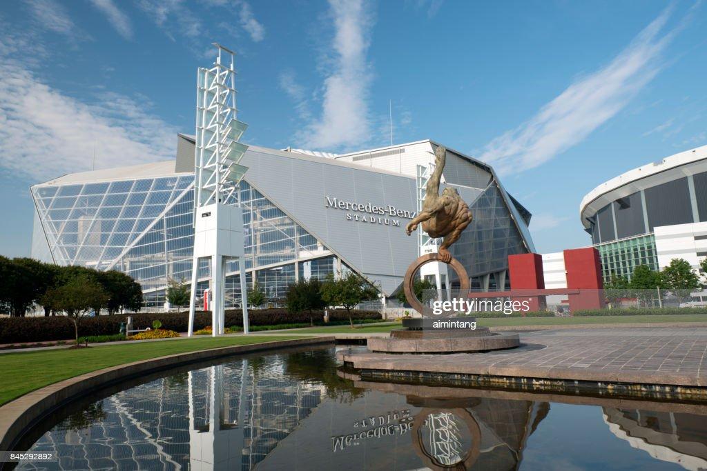 Mercedes Benz Stadium in Atlanta : Stock Photo