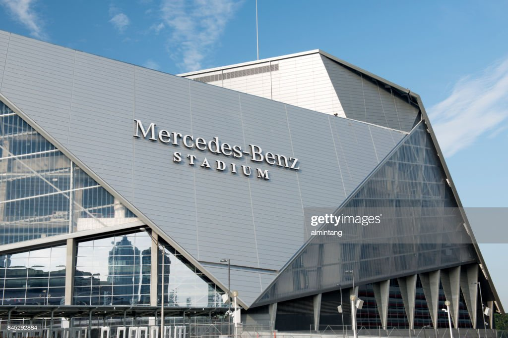 Mercedes Benz Stadium in downtown Atlanta : Stock Photo