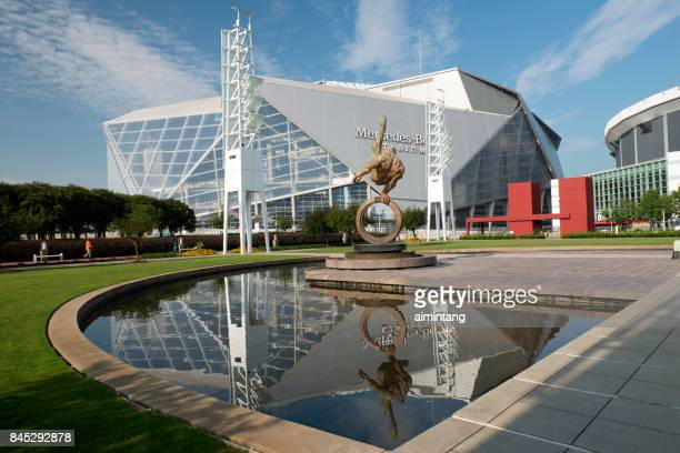 mercedes benz stadium - atlanta georgia stock photos and pictures