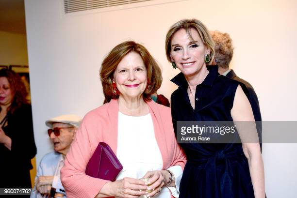 Mercedes Bograd Levin and Michele Gerber Klein attend Charles James Portrait Of An Unreasonable Man Fame Fashion Art By Michele Gerber Klein Cocktail...