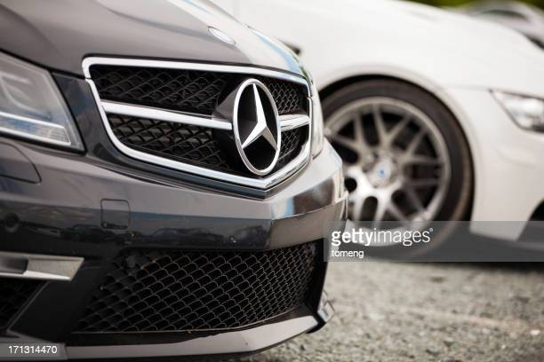 mercedes c63 amg and bmw m3 - mercedes stock photos and pictures