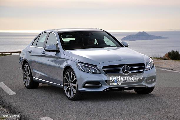 mercedes c-class on the international press launch - mercedes stock photos and pictures