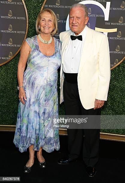 Mercedes Cecchi and Giuseppe Cecchi at the grand reopening party of the iconic Watergate Hotel on June 14 2016 in Washington DC