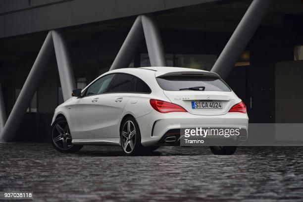 mercedes cla shooting brake on the street - mercedes benz stock photos and pictures