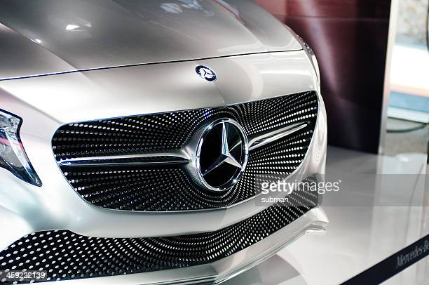 mercedes concept a-class front view - mercedes benz stock pictures, royalty-free photos & images