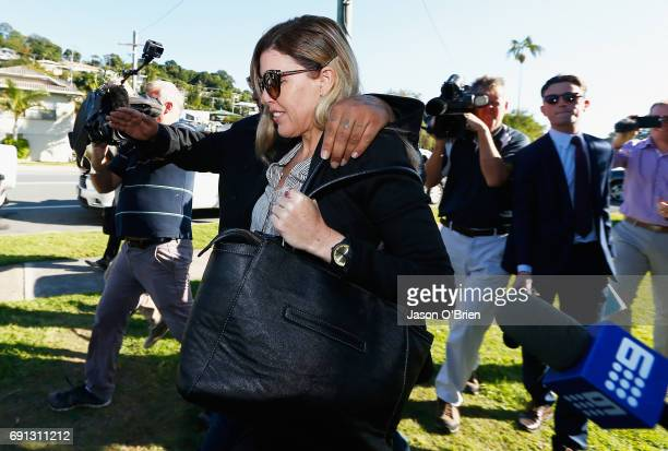 Mercedes Corby arrives at Tweed Heads Local court on June 2 2017 in Gold Coast Australia Mercedes Corby is challenging an apprehended violence which...