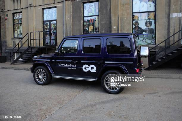 Mercedes dropping off VIP Guests during the London Fashion Week Men's Day One Street Style.
