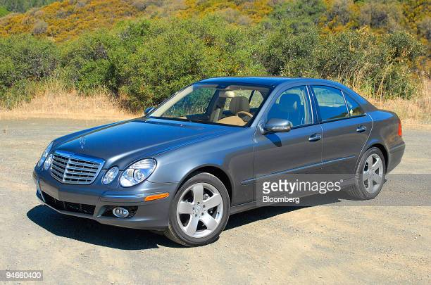 Mercedes E 550 sedan is displayed in St Helena California during a MercedesBenz USAs press launch on Thursday July 13 2006 The E 550 features a...