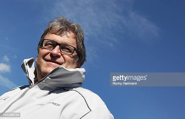 Mercedes executive director Norbert Haug is seen before the race of the DTM 2010 German Touring Car Championship on September 19 2010 in Oschersleben...