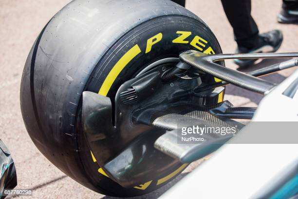 Mercedes front brakes detail of 77 BOTTAS Valtteri from Finland car during the Monaco Grand Prix of the FIA Formula 1 championship at Monaco on 24th...