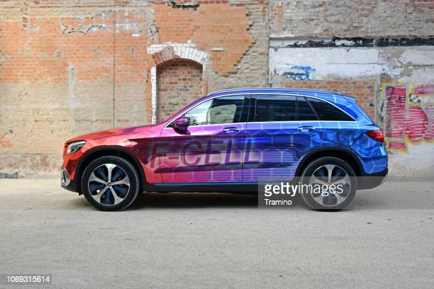mercedes glc f-cell - car powered by hydrogen - fuel cell stock pictures, royalty-free photos & images