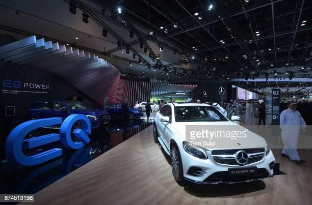 Mercedes GLC is seen during Dubai Motor Show at Dubai World Trade Centre on November 15 2017 in Dubai United Arab Emirates