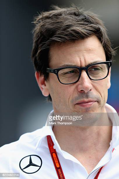 Mercedes GP Executive Director Toto Wolff in the Paddock during practice for the Formula One Grand Prix of Brazil at Autodromo Jose Carlos Pace on...