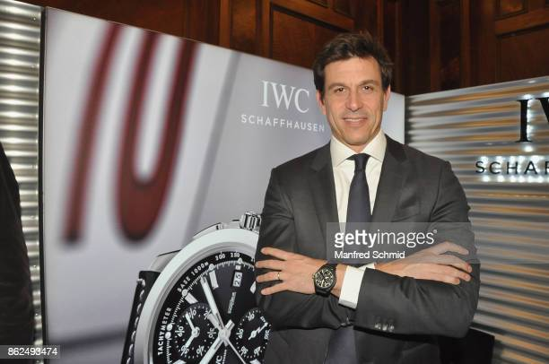 Mercedes GP Executive Director Toto Wolff poses during the IWC Schaffhausen launch of it's new collection 2017 at IWC Boutique Vienna on October 17,...