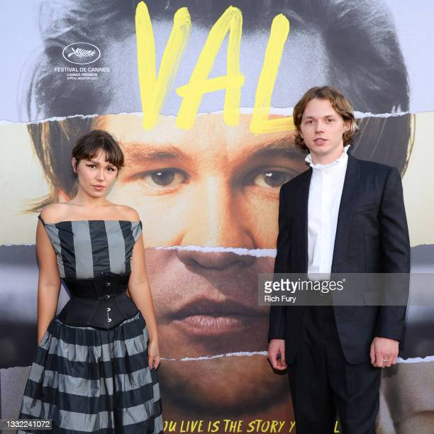 """Mercedes Kilmer and Jack Kilmer attend the Premiere of Amazon Studios' """"VAL"""" at DGA Theater Complex on August 03, 2021 in Los Angeles, California."""