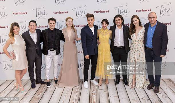 Mercedes Lambre Jorge Blanco Martina Stoessel and Adrian Salcedo and Juan Pablo Buscarini attend the premiere for 'Tini El Gran Cambio De