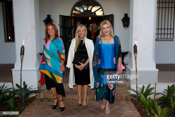 Mercedes Lasarte Mercedes Troyano and Carmen Thyssen attend the opening of the exhibition of the artist Mercedes Lasarte including works from the...
