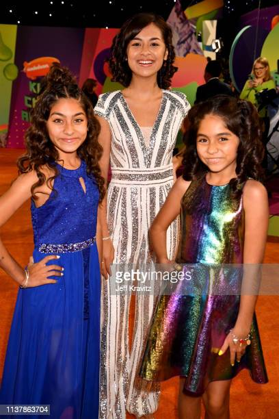 Mercedes Lomelino Evangeline Lomelino and Giselle Lomelino of GEM Sisters attend Nickelodeon's 2019 Kids' Choice Awards at Galen Center on March 23...