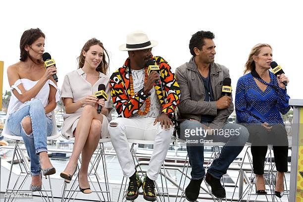 Mercedes Mason, Alycia Debnam-Carey, Coleman Domingo, Cliff Curtis and Kim Dickens attend AMC at Comic-Con on July 23, 2016 in San Diego, California.