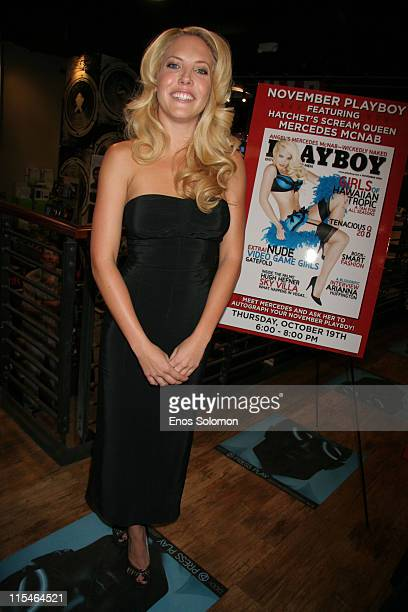 Mercedes Mcnab during Mercedes Mcnab InStore Signing of Her Playboy November 2006 Issue at Virgin Megastore in Hollywood CA United States