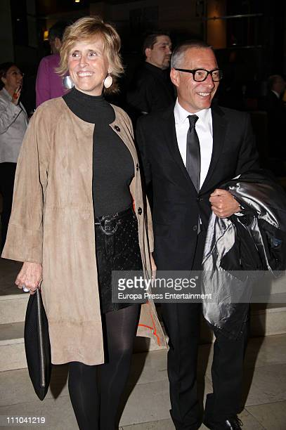 Mercedes Mila and Goyo Gonzalez attend charity dinner for Haiti at Mirasierra Suite Hotel on March 28 2011 in Madrid Spain
