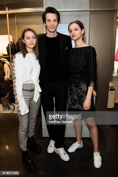 Mercedes Mueller Sabin Tambrea and Lisa Vicari attends the KaterImbiss hosted by Samsonite and Kilian Kerner on February 16 2018 in Berlin Germany