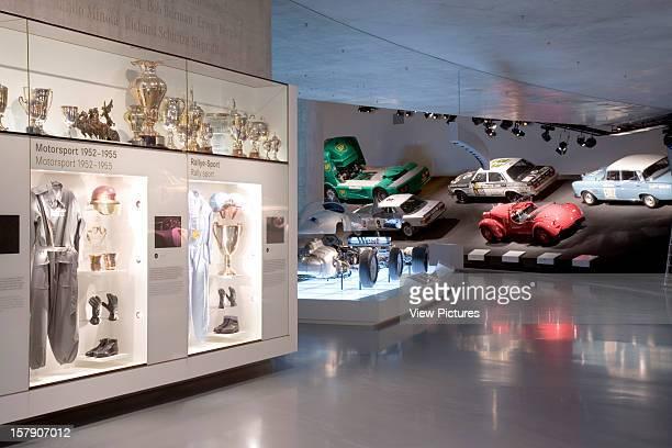 Mercedes Museum, Stuttgart, Germany, Architect Un Studio , Mercedes Museum Silver Arrows Race Track And Display Case.