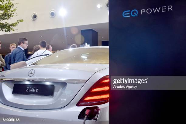 Mercedes S 560 E is displayed at the 67th International Frankfurt Motor Show in Frankfurt Germany on September 18 2017 Approximately one thousand...